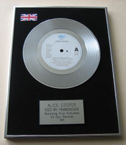 ALICE COOPER - FEED MY FRANKENSTEIN Platinum Single Presentation Disc